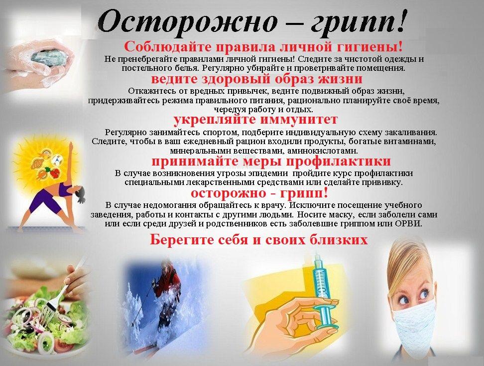 для детей гриппа картинки профилактика