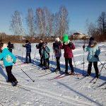на лыжне Кукарина Настя